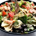 Salmon Pasta Salad (No Mayo)