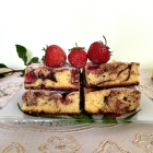 Chocolate Marble Cake with Strawberries