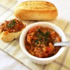 Roasted eggplant spread recipe with tomatoes and peppers