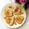 Heart-shaped cinnamon waffles recipe