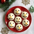Christmas Snowman Cupcakes