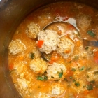 Healthy Romanian Meatball Soup with Rice
