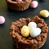 Chocolate rice krispie Easter nests