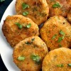 Vegetarian Chickpea Patties with Broccoli and Potatoes