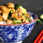 Broccoli Tofu Stir Fry with Basmati Rice