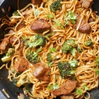 Beef and Broccoli Stir Fry with Noodles