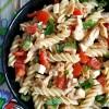 Cold chicken caprese pasta salad recipe
