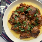 Romanian Chicken Liver and Onions with Polenta