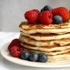 Fluffy Egg-Free Pancakes with Berries