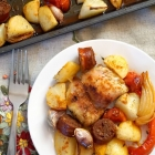 Sheet Pan Spanish Chicken with Chorizo