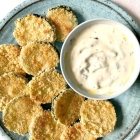 Baked Zucchini Chips with Yogurt Garlic Sauce