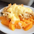 Canned Peach Crumble