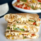 Healthy Chicken Fajita Quesadillas