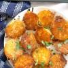 Crispy Roasted Garlic Parmesan Potatoes