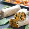 Harissa Roasted Vegetable and Hummus Wrap
