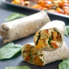 Harissa Roasted Vegetable and Hummus Wrap