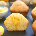 Lemon Drizzle Muffins with Lemon Curd Filling