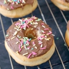 Oven Baked Doughnuts with Chocolate Glaze