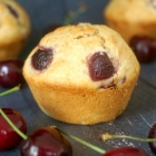 Fluffy Almond Cherry Muffins