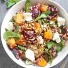 Roast Pumpkin Quinoa Salad with Feta