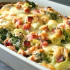 Cheesy Ham Broccoli Casserole