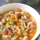 Easy Leftover Ham and Bean Soup