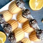 Chocolate-Dipped Orange Madeleines