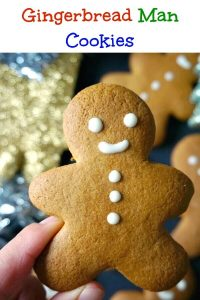 Gingerbread Man Cookies with a nice blend of spices, the best cookie recipe for the festive season. Kids will absolutely love them, and the grown-ups too. They taste a lot better than the store-bought ones, and are quick and easy to make. A must-try recipe!