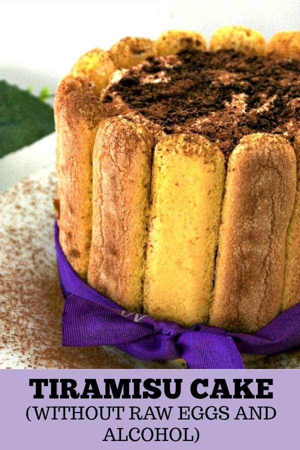 Tiramisu without alcohol and raw eggs, my take on the famous Italian dessert, just a little less naughty. A great no-bake dessert for any celebration.