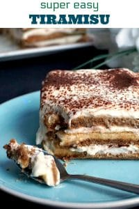 A super easy tiramisu recipe without eggs and alcohol, my take on the famous Italian dessert, just a little less naughty. A great no-bake dessert that is ready in only 10 minutes.