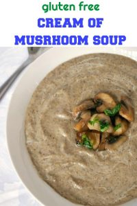 Easy Cream of Mushroom Soup, comforting, delicious, one of those soups that can be enjoyed throughout the year. Silky, with a delicate flavour, this soup is vegetarian and gluten free.