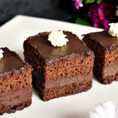 Sheet Chocolate Cake with Nutella Filling