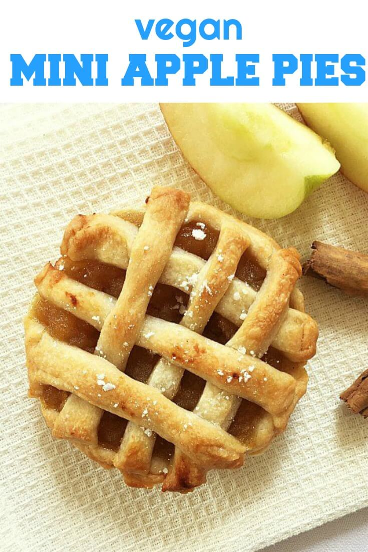 Easy Mini Apple Pies, my take on the all-time classic recipe, vegan friendly. With a delicious apple and cinnamon filling and a fail-proof crust, you know these pies will go down a treat. Perfect on Thanksgiving or any other celebration.