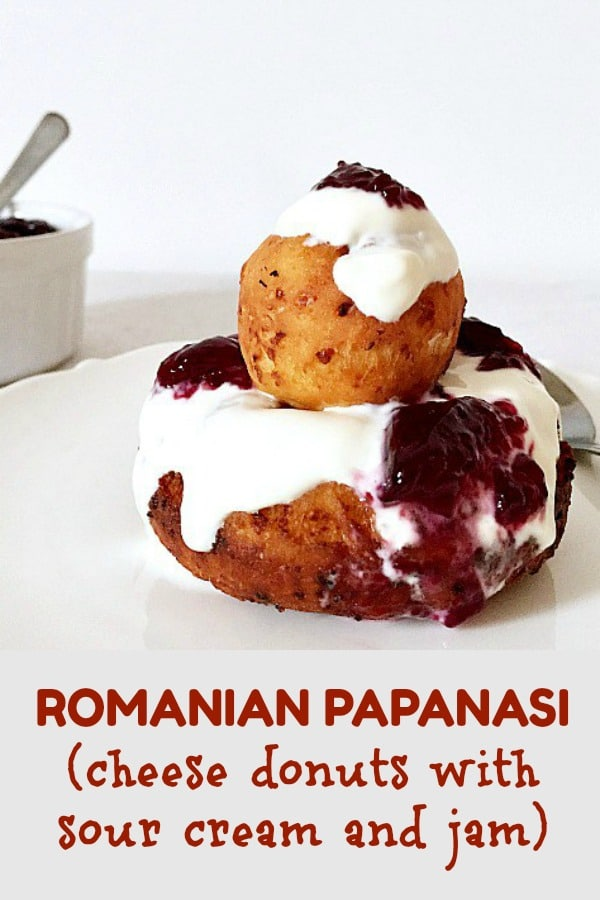 Romanian Papanasi with sour cream and jam, or fried no-yeast cheese doughnuts, a traditional dessert that tastes like heaven, and we are so proud of. It only takes a few ingredients to put it together, but be sure that everybody will fall in love with them. Best donuts ever!