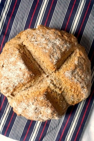 Overhead shot of traditional Irish Soda Bread