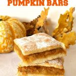 Romanian Sweet Potato & Pumpkin Bars, Fall's finest and most beloved dessert. Melt-in-your-mouth homemade pastry, delicious pumpkin and sweet potato filing with a vanilla touch, this is one recipe you gotta try!