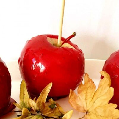 Trick-Or-Treat Red Candy Apples