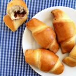 Chocolate croissants recipe with cranberries and walnuts