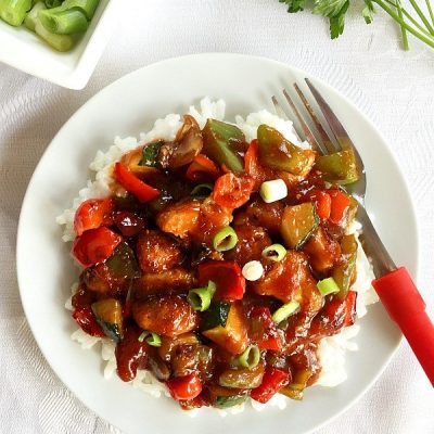 Healthy Sweet and Sour Chicken with Vegetables