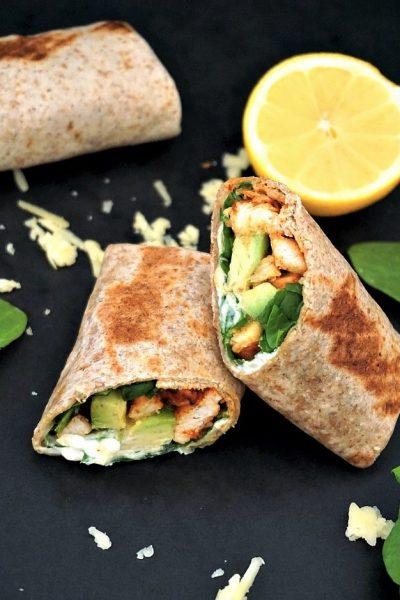 Grilled chicken, avocado wrap