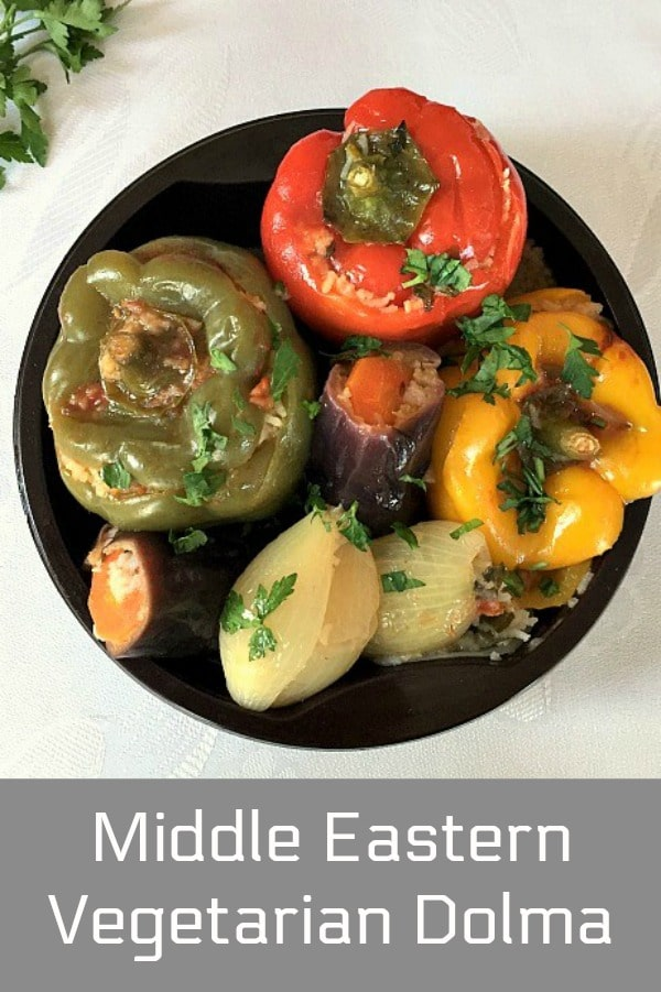 Middle Eastern Vegetarian Dolma or stuffed vegetables, a fantastic dish that brings the whole family around the table. Using only simple ingredients, you can cook a meal that is nutritious, delicious and filling. Although it is suitable for those on a vegetarian or vegan diet, meat lovers will also go for it. And what's not to be loved!!!