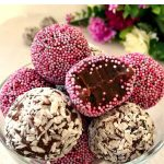 Traditional Brazilian Chocolate Brigadeiro Recipe,  the no-bake bite-size sweets with only 4 ingredients. Call them truffles, fudge balls or just brigadeiros, they are sure to make you fall in love with them.