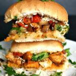 A stack of 2 chicken sliders
