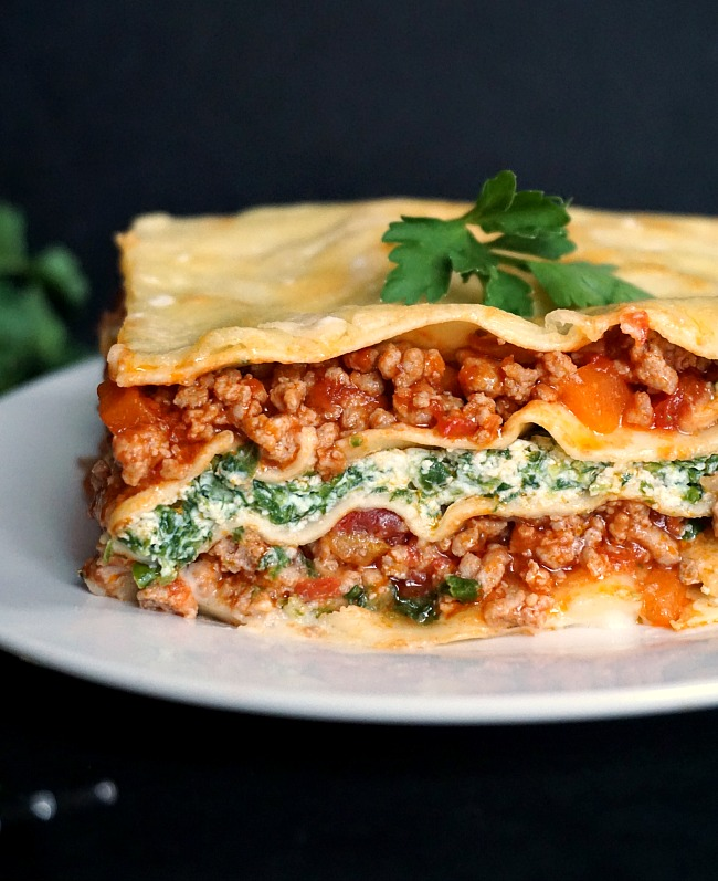 Turkey Spinach Lasagna Recipe with Ricotta - My Gorgeous ...