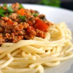 Clean-eating lean turkey spaghetti bolognese, a healthy and delicious family meal that makes dinner special