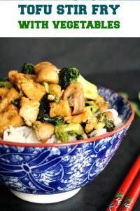 Broccoli tofu stir fry with basmati rice, a delicious under 30-minute dinner that is vegan and gluten free. Satisfying, packed with all the nature's goodness and super easy to make, this is perfect if you want a meat-free meal that is light, nutritious and delicious.