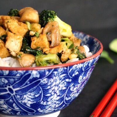 Broccoli Tofu Stir Fry with Basmati Rice