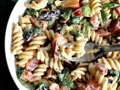 Blt Pasta Salad With Ranch Dressing