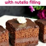 Chocolate cake with nutella filling