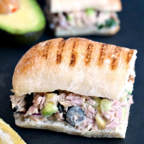 A tuna salad sandwich